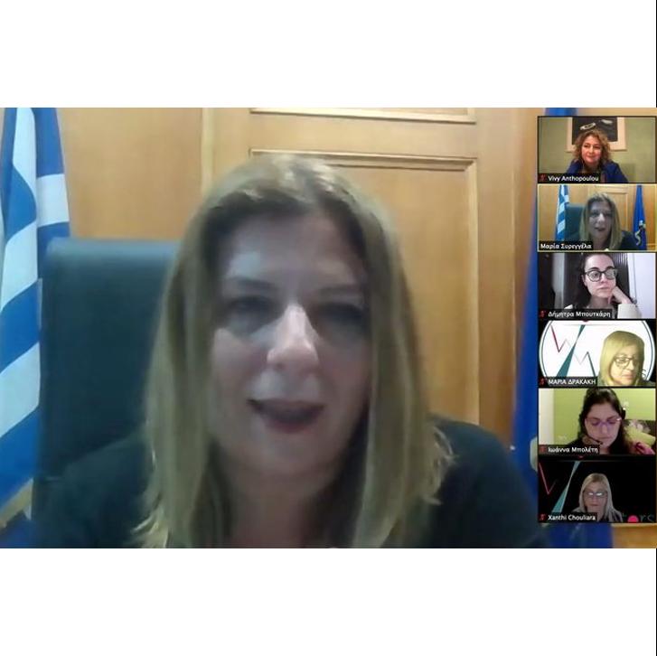 Η Υφυπουργός Εργασίας Μαρία Συρεγγέλα μιλά με τις νέες γυναίκες του WOMENTORS